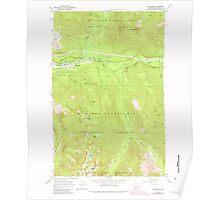 USGS Topo Map Washington State WA Skykomish 243766 1965 24000 Poster