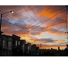 Morning Sunrise on Sutter Street Photographic Print