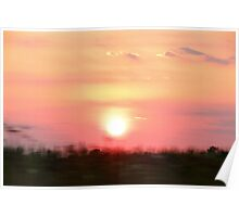 65 MPH Sunset Poster