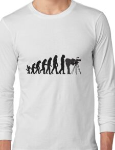 Male Photographer Evolution Tee Shirt Long Sleeve T-Shirt