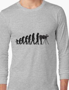 Male Photographer Evolution Tee Shirt Long Sleeve T-Shirt