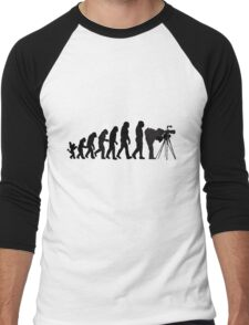 Male Photographer Evolution Tee Shirt Men's Baseball ¾ T-Shirt