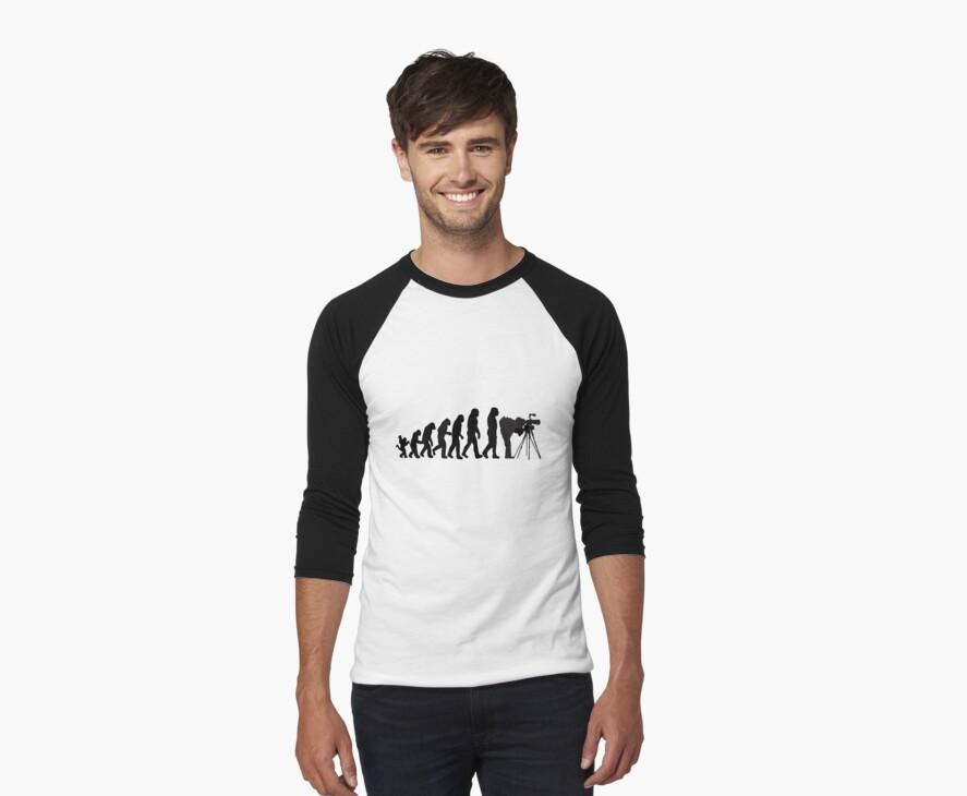 Male Photographer Evolution Tee Shirt by CroDesign