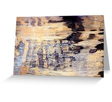 Wood Grain Stains Greeting Card