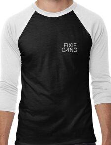 fixie gang white Men's Baseball ¾ T-Shirt