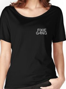 fixie gang white Women's Relaxed Fit T-Shirt