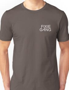 fixie gang white Unisex T-Shirt