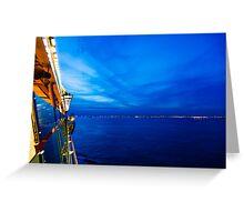 Blue at Sea Greeting Card