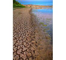 Cracked Shoreline Photographic Print