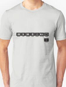 Retro Music Ghetto Blaster Command Buttons T-Shirt T-Shirt