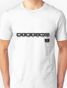 Retro Music Ghetto Blaster Command Buttons T-Shirt T-Shirt
