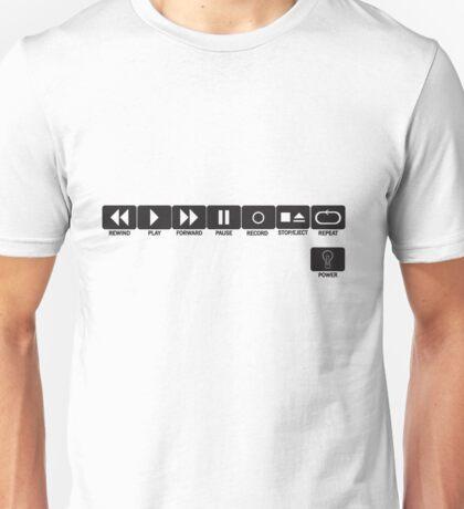 Retro Music Ghetto Blaster Command Buttons T-Shirt Unisex T-Shirt