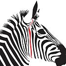Red Line Zebra by jlv-