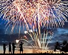 Spectacular Fireworks in Waikiki 5 by Alex Preiss