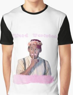 Wilford Warstache Flower Crown Graphic T-Shirt