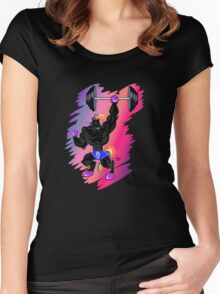 MAGICAL MUSCLE - BUFF UNICORN Women's Fitted Scoop T-Shirt