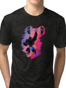 MAGICAL MUSCLE - BUFF UNICORN Tri-blend T-Shirt