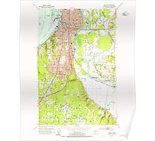 USGS Topo Map Washington State WA Everett 241090 1953 24000 Poster