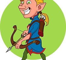 Elf with bow and arrow. by Evgenii Sidorov