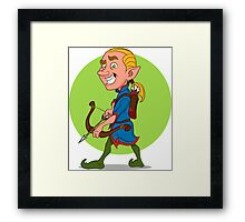 Elf with bow and arrow. Framed Print