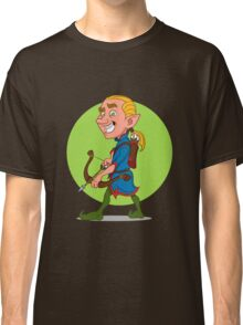 Elf with bow and arrow. Classic T-Shirt