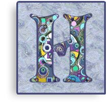 The Letter H Canvas Print