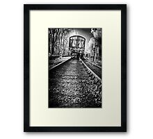 Dark train coming Framed Print
