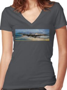 Lancaster Panorama Women's Fitted V-Neck T-Shirt