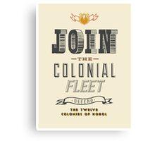 Defend The Twelve Colonies of Kobol Canvas Print