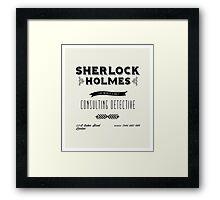 Sherlock Holmes' Business Card Framed Print