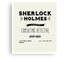 Sherlock Holmes' Business Card Canvas Print