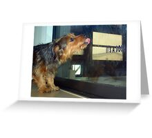 If you were home, I'd lick your face... Greeting Card