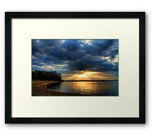 Today's Rays Framed Print