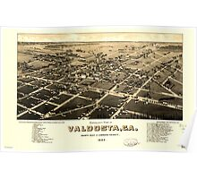 Panoramic Maps view of Valdosta Ga county seat of Lowndes County Poster