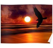 Dreams Fly Beyond Sunset Point   Poster