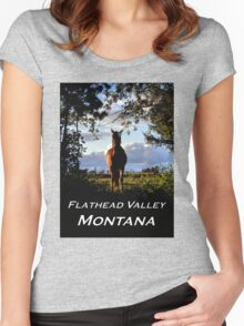 Equine, Evergreen Montana Women's Fitted Scoop T-Shirt