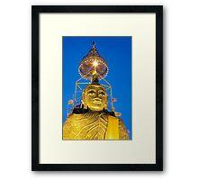 Huge Golden Buddha by Night Framed Print