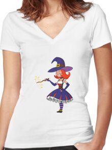pretty witch. Women's Fitted V-Neck T-Shirt