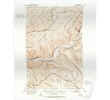 USGS Topo Map Washington State WA Hay 241511 1952 62500 Poster