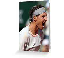Rafael Nadal Greeting Card