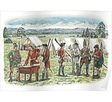 British Troops at the Battle of Quebec 1759 Poster