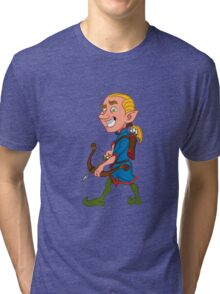 elf with a bow Tri-blend T-Shirt