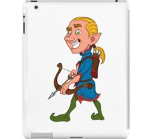 elf with a bow iPad Case/Skin