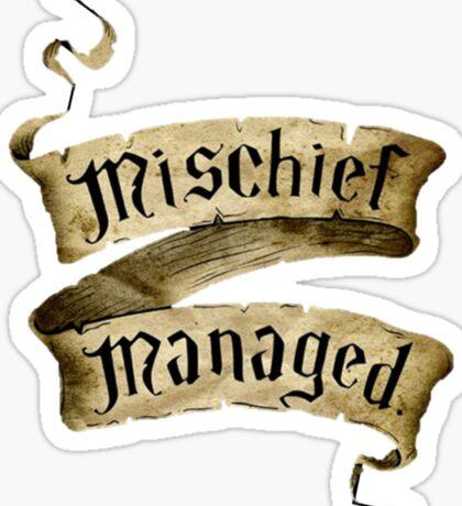 Mischief Managed Banner Sticker