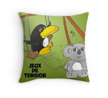 Caricature des news options binaires Throw Pillow