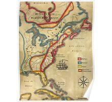North America 1755 Poster