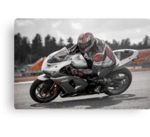Ninja on the Track Metal Print