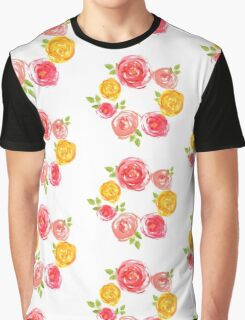 Painted rose wreath Graphic T-Shirt