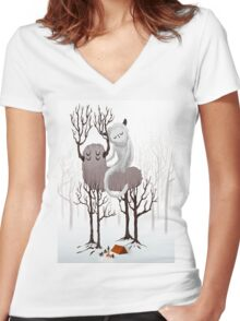 November Women's Fitted V-Neck T-Shirt