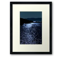tranquil rocky kerry starry night view Framed Print